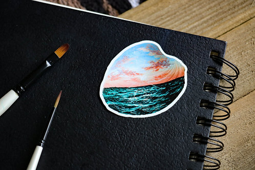 Pink Sunset - Sticker