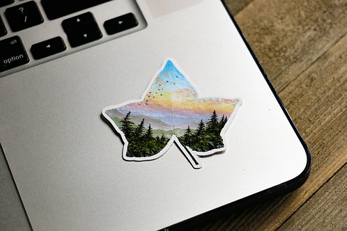 Blue Ridge Evening - Sticker