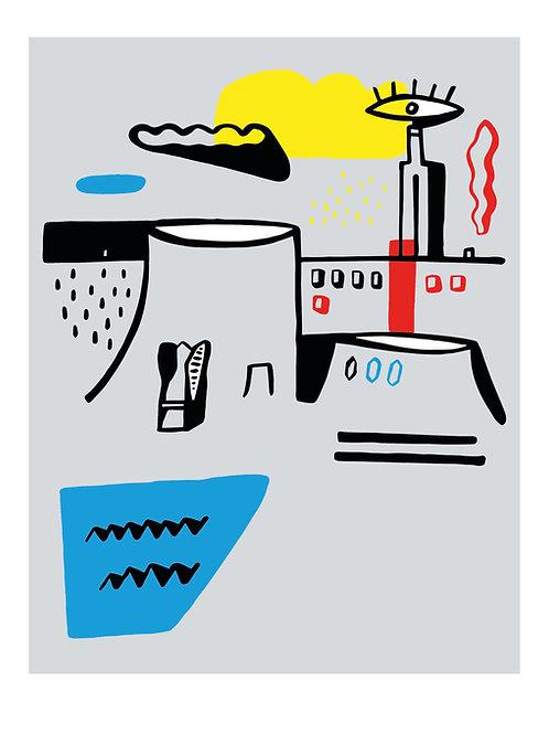 """Art print """"Le Havre ville volcanique"""""""
