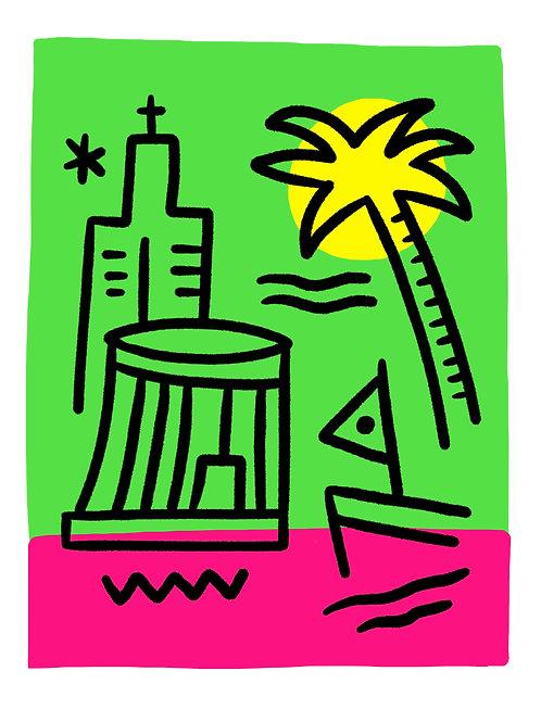 "Art Print ""La Californie"""