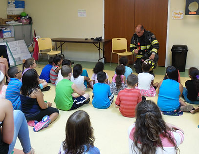 Fire safety education is offered at Project Self-Sufficiency Back to School Fair