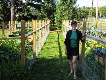Frances Gould Naftal originated the community gardens at Project Self-Sufficiency.