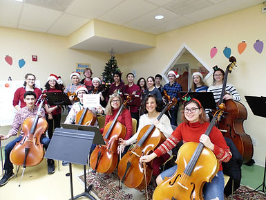 Volunteer musicians perform at the Season of Hope Toy Shop