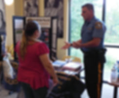 Newton Police Department educates participants at Project Self-Sufficiency Back to School Fair