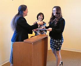 Cora and Nancy congratulate Ashley Simeone.JPG
