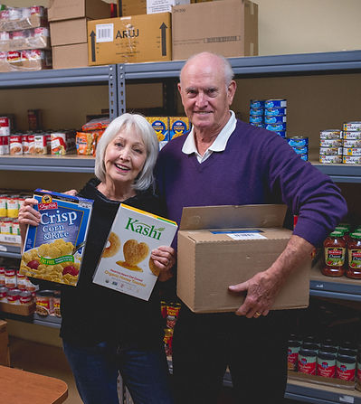 Donate food to Project Self-Sufficiency.