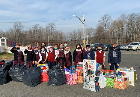Reverend Brown Elementary School students collected hundreds of toys for the Stuff the Sto