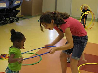 Teen volunteers are welcome at the Little Sprouts Early Learning Center.