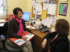 Case managers assist parents with setting goals at the Sussex County Family Success Center.