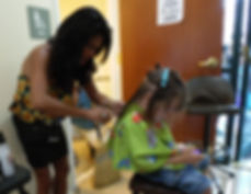 Free haircuts for kids at the Project Self-Sufficiency Back-to-School Fair