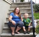 Cassandra Beach and son Remi, May 2020.J