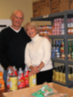 Donate food to the Project Self-Sufficiency Food Pantry.