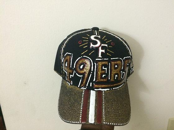 Hand Made Custom SF 49ers Hat