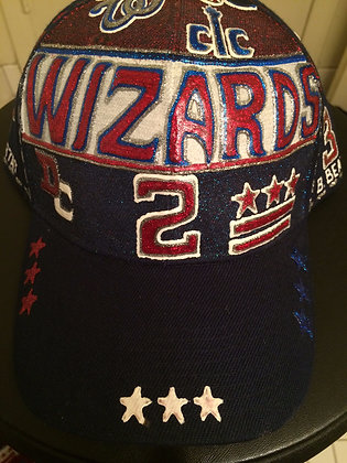 Custom Hand Made Washington Wizards Hat - Blue/Red