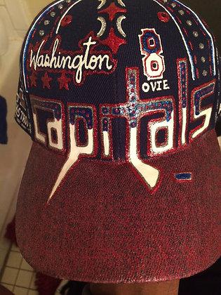 Hand Made Custom Washington Caps Hat - Team Name