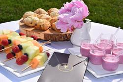 Fruit Smoothies... Scones & Fresh Fruit Skewers