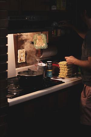 Jared preparing pizza ramen 2 .jpg