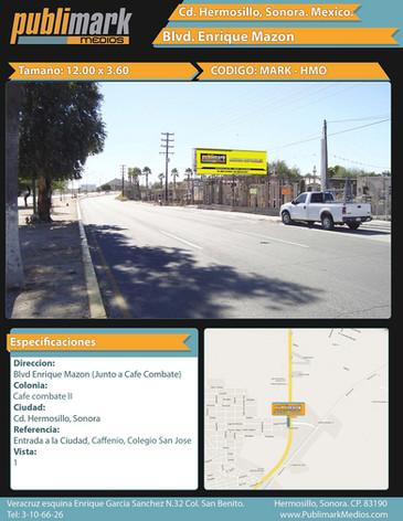 Blvd Enrique Mazon (Junto a cafe combate ) - Vista 1