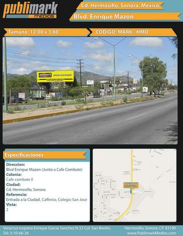 Blvd Enrique Mazon (Junto a cafe combate) - Vista 2