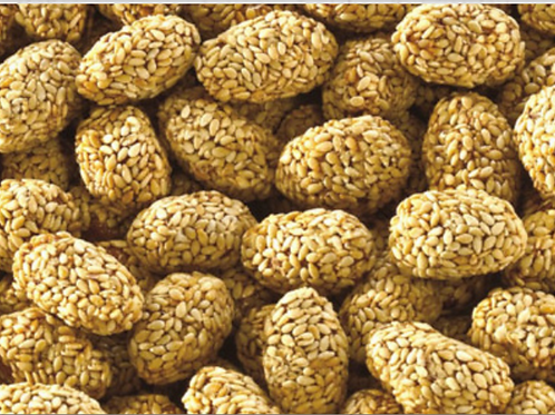 Erdnüsse mit Karamel und Sesam (200g)