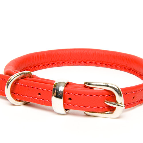 Dogs & Horses Rolled Leather Collar (More Colours)