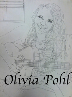 Girl and Guitar: Hockney Style