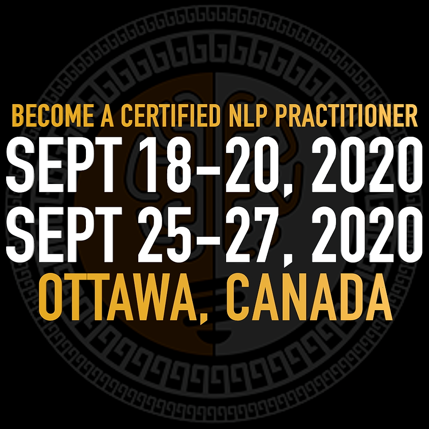 Training - NLP Practitioner Course w/ Chris Wyllie - LIVE     Sept 18-20 & 25-27 Ottawa