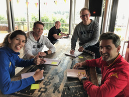 High Performance Coaches Laura del Colli (Argentina), Nils Helbig (Germany), Shea Mcaleeze (NZL), Manuel Alconchal (Spain)
