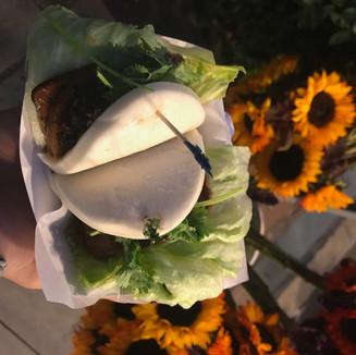 Vegan BBQ bao sticky buns
