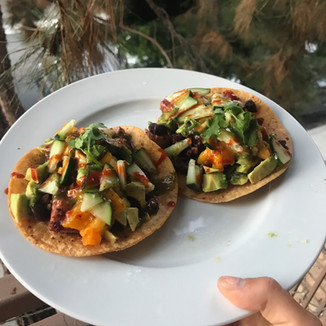 Spicy bbq tempeh tacos