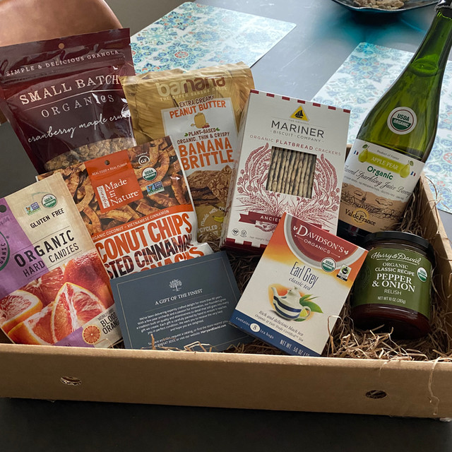 Gift basket from Mom