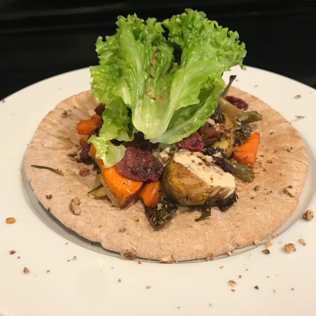 Thanksgiving veggie wraps