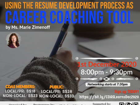 CDAS  Learns - Using The Resume Development As A Process As Career Coaching Tool