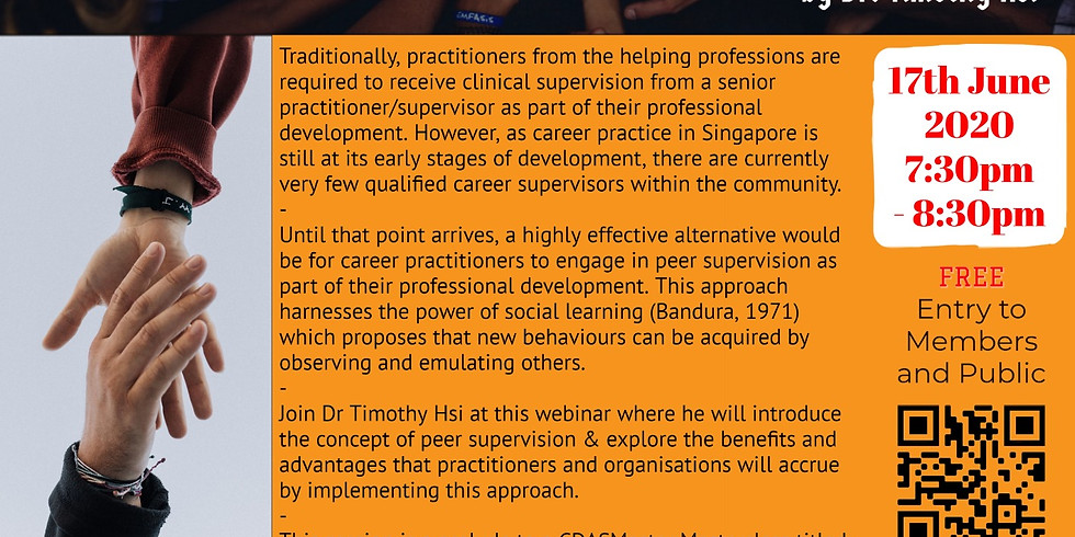 CDASMaster: Peer Supervision for Career Practitioners (A Prelude)