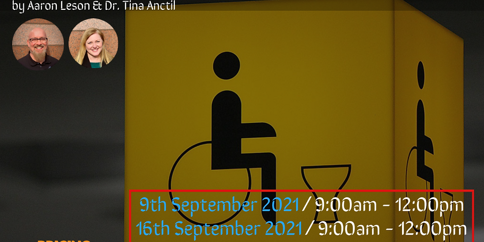 Career Development Techniques For Persons With Disabilities by Aaron Leson & Dr Tina Anctil (Sep 9, 16 & 23)