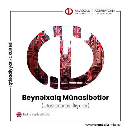 Beynəlxalq Münasibətlər (Uluslararası İlişkiler) - İngilis dilində