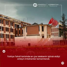 Türkiyə Təhsil tarixində ən çox tələbənin iştirak etdiyi onlayn imtahanlar tamamlandı.