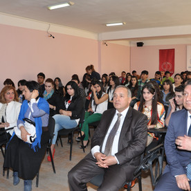 TRT kanalının baş direktoru İbrahim Şahin tələbələri ziyarət etdi.