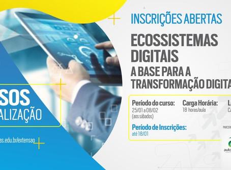 """Curso """"A Transformação Digital e seus Ecossistemas"""""""