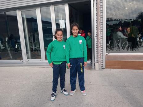 Nuevo entrenamiento con la Selección Ferrolana Sub 12 para Uxía y Aitana.