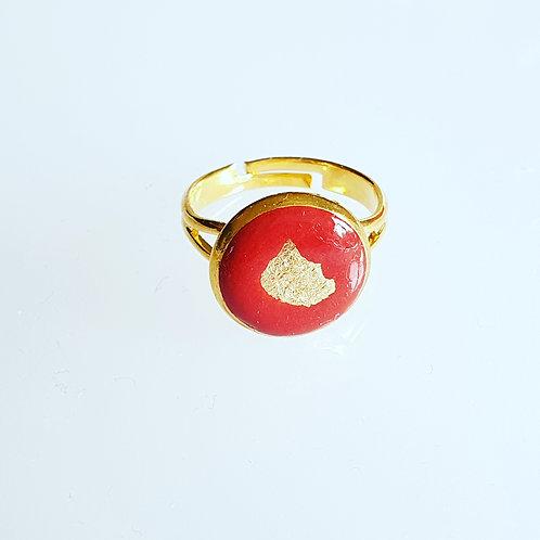 Pici kerek gyűrű aranyos