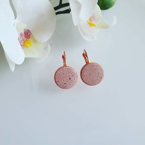 Kapcsos fülbevaló 16 mm rosegold