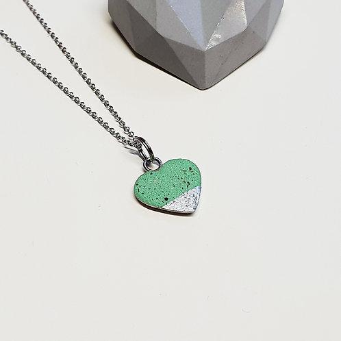 Pici szív medál zöld