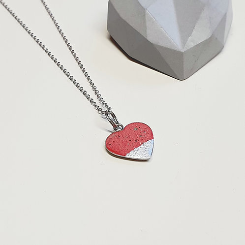 Pici szív medál piros
