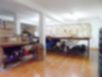 Foto do espaço de produção do atelier