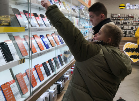 Маша и Юра купили телефоны