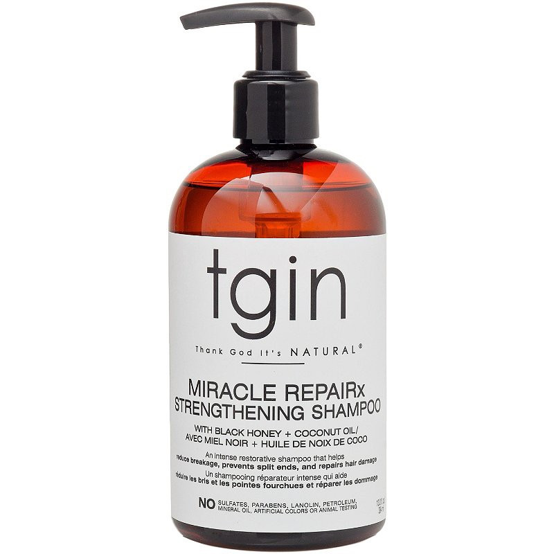 A moisturizing shampoo that works for type 4 naturals. TGIN Miracle REPAIRx Stregthening shampoo review.