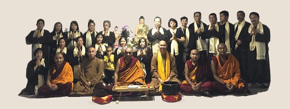 Gruppenfoto Meditationsseminar tibetisch