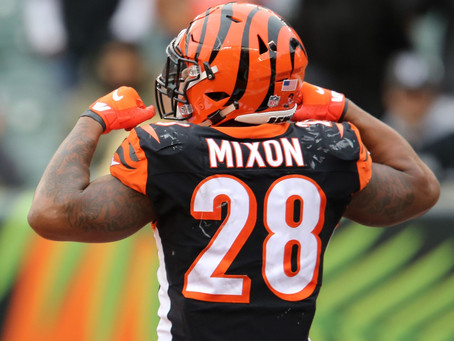 The Bengals Need to Pass to Mixon or we should Pass on Mixon