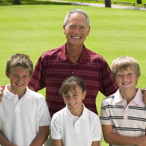 Golf mit Großvater